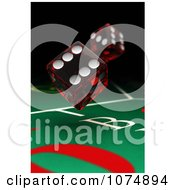 Clipart 3d Dice Over A Craps Table In A Casino Royalty Free CGI Illustration by stockillustrations