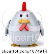 Clipart 3d Chubby White Chicken Royalty Free CGI Illustration by Julos