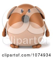 Clipart 3d Chubby Brown Dog Royalty Free CGI Illustration