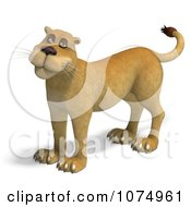 Clipart 3d Lioness 1 Royalty Free CGI Illustration