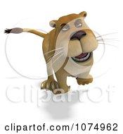 Clipart 3d Lioness Running 2 Royalty Free CGI Illustration