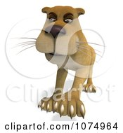 Clipart 3d Lioness 3 Royalty Free CGI Illustration