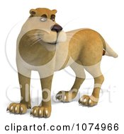Clipart 3d Lioness 2 Royalty Free CGI Illustration