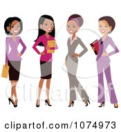 Clipart Group Of Professional Multi Ethnic Businesswomen Royalty Free Vector Illustration