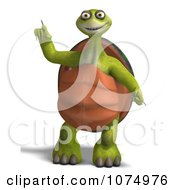 Clipart 3d Tortoise Standing And Pointing 1 Royalty Free CGI Illustration by Ralf61