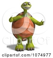 Clipart 3d Tortoise Standing With Open Arms Royalty Free CGI Illustration