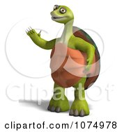 Clipart 3d Tortoise Standing And Waving Royalty Free CGI Illustration by Ralf61