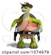 Clipart 3d Tortoise Sheriff Cowboy With Guns Royalty Free CGI Illustration by Ralf61