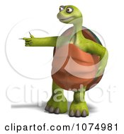 Clipart 3d Tortoise Standing And Pointing 2 Royalty Free CGI Illustration by Ralf61