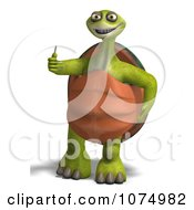 Clipart 3d Tortoise Standing And Holding A Thumb Up Royalty Free CGI Illustration by Ralf61