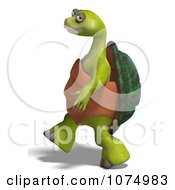 Clipart 3d Tortoise Walking Upright Royalty Free CGI Illustration by Ralf61