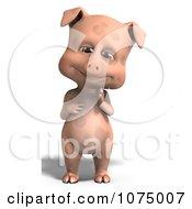 Clipart 3d Cute Pig Royalty Free CGI Illustration