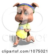Clipart 3d Cute Pig Jogging 2 Royalty Free CGI Illustration by Ralf61