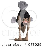 Clipart 3d Wild Ostrich Bird With His Head Between Its Legs 1 Royalty Free CGI Illustration by Ralf61