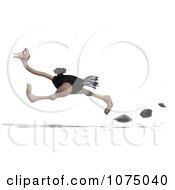 3d Wild Ostrich Bird Running