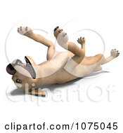 Clipart 3d Yellow Lab Dog Playing Dead Royalty Free CGI Illustration