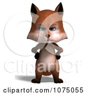 Clipart 3d Cute Mad Fox Standing Upright Royalty Free CGI Illustration by Ralf61