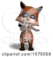 Clipart 3d Cute Business Fox Standing Upright Royalty Free CGI Illustration by Ralf61