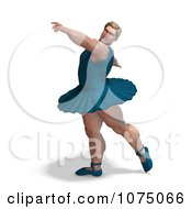 Clipart 3d Strong Male Ballerina In A Tutu 1 Royalty Free CGI Illustration