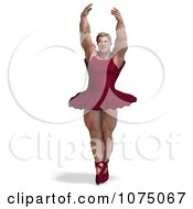 Clipart 3d Strong Male Ballerina In A Tutu 2 Royalty Free CGI Illustration