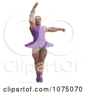Clipart 3d Strong Male Ballerina In A Tutu 5 Royalty Free CGI Illustration