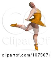 Clipart 3d Strong Male Ballerina In A Tutu 6 Royalty Free CGI Illustration