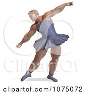 Clipart 3d Strong Male Ballerina In A Tutu 7 Royalty Free CGI Illustration