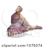 Clipart 3d Strong Male Ballerina In A Tutu 9 Royalty Free CGI Illustration