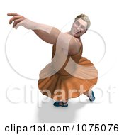 Clipart 3d Strong Male Ballerina In A Tutu 11 Royalty Free CGI Illustration