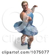 Clipart 3d Strong Male Ballerina In A Tutu 12 Royalty Free CGI Illustration