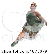 Clipart 3d Strong Male Ballerina In A Tutu 14 Royalty Free CGI Illustration