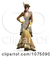 3d Steampunk Lady Standing 2