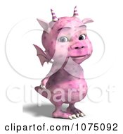 Clipart Pink Devil Dragon 2 Royalty Free CGI Illustration by Ralf61