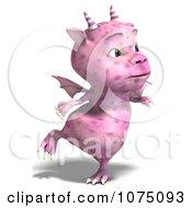 Clipart Pink Devil Dragon 3 Royalty Free CGI Illustration by Ralf61