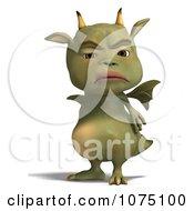 Clipart Mad Green Devil Dragon 1 Royalty Free CGI Illustration by Ralf61