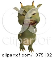 Clipart Mad Green Devil Dragon 2 Royalty Free CGI Illustration by Ralf61
