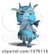 Clipart Mad Blue Devil Dragon Royalty Free CGI Illustration by Ralf61