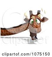 Clipart 3d Clumsy Giraffe Seeing Stars 2 Royalty Free CGI Illustration