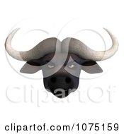 Clipart 3d Mad Water Buffalo Face Royalty Free CGI Illustration