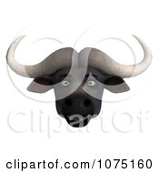 Clipart 3d Happy Water Buffalo Face Royalty Free CGI Illustration
