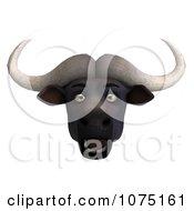 Clipart 3d Shocked Water Buffalo Face Royalty Free CGI Illustration