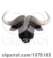 Clipart 3d Bored Water Buffalo Face Royalty Free CGI Illustration