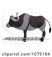 Clipart 3d Water Buffalo Royalty Free CGI Illustration