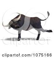 Clipart 3d Mad Water Buffalo 1 Royalty Free CGI Illustration