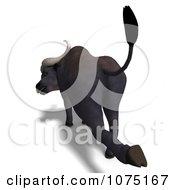 Clipart 3d Water Buffalo Kicking Royalty Free CGI Illustration