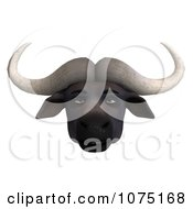 Clipart 3d Annoyed Water Buffalo Face Royalty Free CGI Illustration by Ralf61