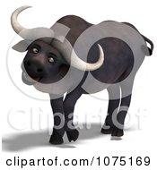 Clipart 3d Goofy Water Buffalo Royalty Free CGI Illustration by Ralf61