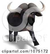 Clipart 3d Mad Water Buffalo 2 Royalty Free CGI Illustration by Ralf61