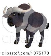 Clipart 3d Shocked Water Buffalo Royalty Free CGI Illustration by Ralf61