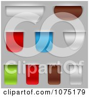 Clipart 3d Bookmark Tags On Gray Royalty Free Vector Illustration